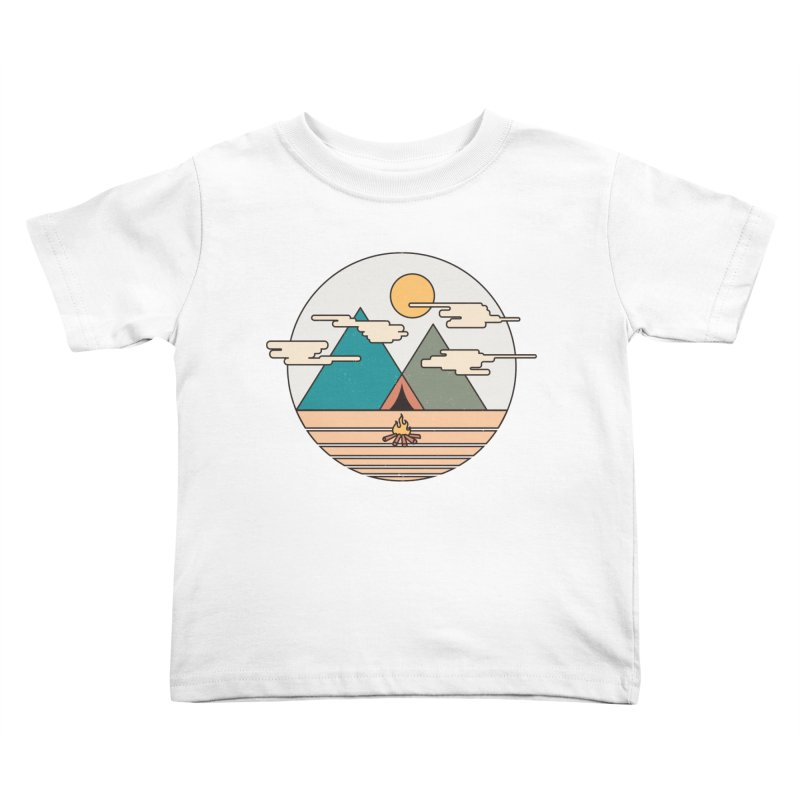 BENEATH THE MOUNTAINS Kids Toddler T-Shirt by alchemist's Artist Shop