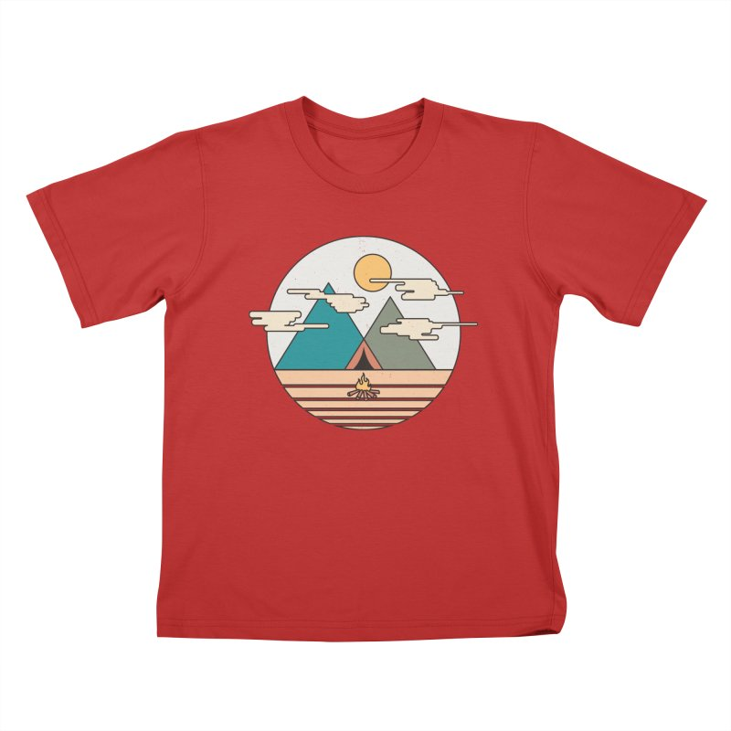 BENEATH THE MOUNTAINS Kids T-shirt by alchemist's Artist Shop