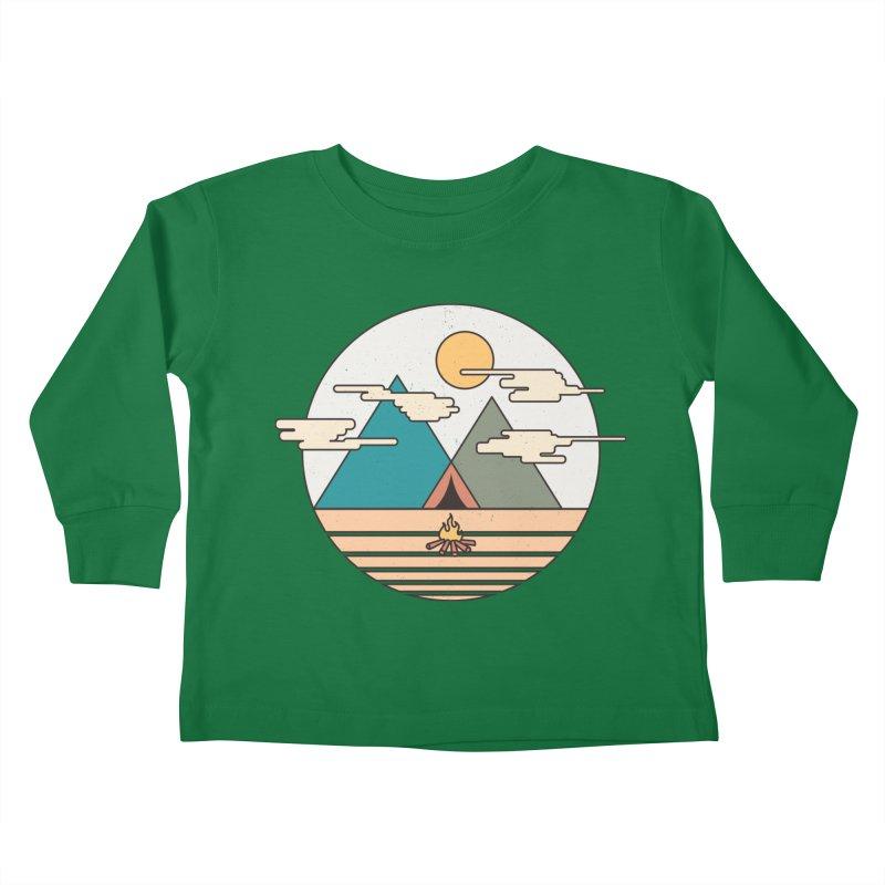 BENEATH THE MOUNTAINS Kids Toddler Longsleeve T-Shirt by alchemist's Artist Shop