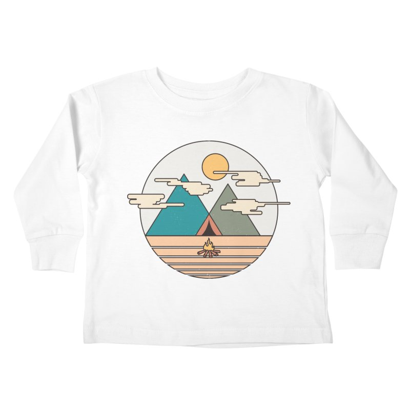 BENEATH THE MOUNTAINS Kids Toddler Longsleeve T-Shirt by alchemist's Artist Shop