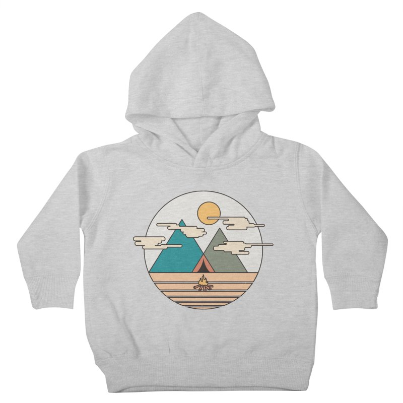 BENEATH THE MOUNTAINS Kids Toddler Pullover Hoody by alchemist's Artist Shop