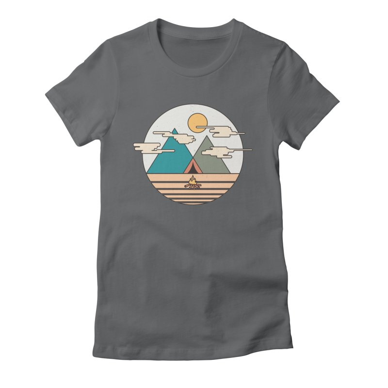 BENEATH THE MOUNTAINS Women's Fitted T-Shirt by alchemist's Artist Shop