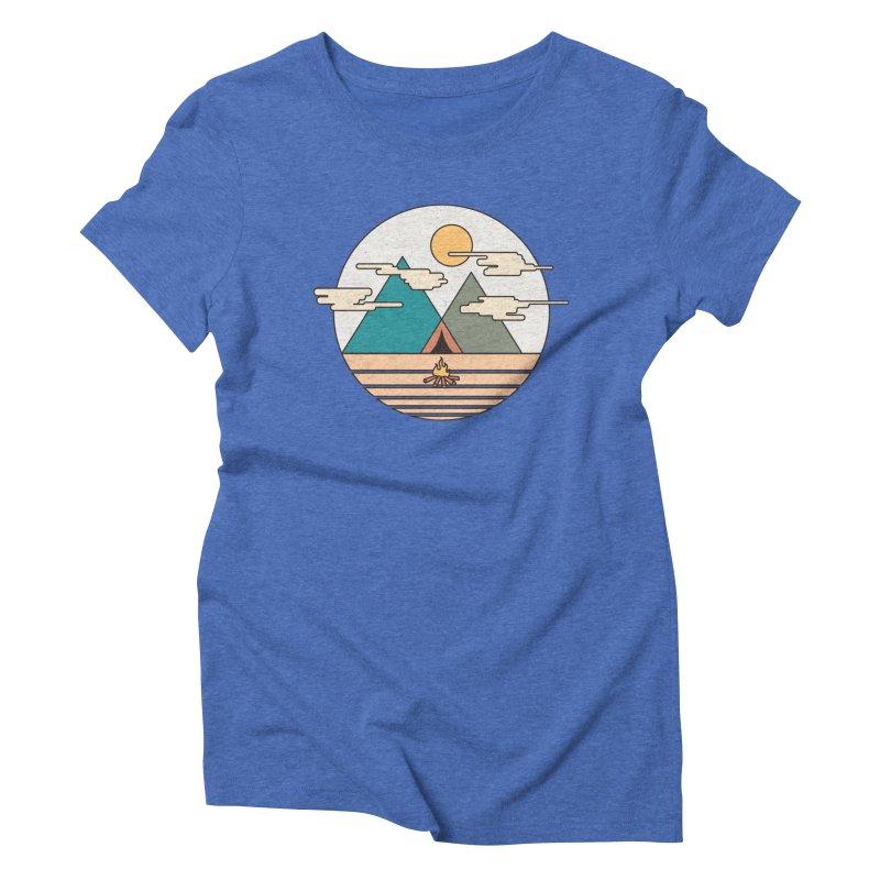 BENEATH THE MOUNTAINS Women's Triblend T-shirt by alchemist's Artist Shop