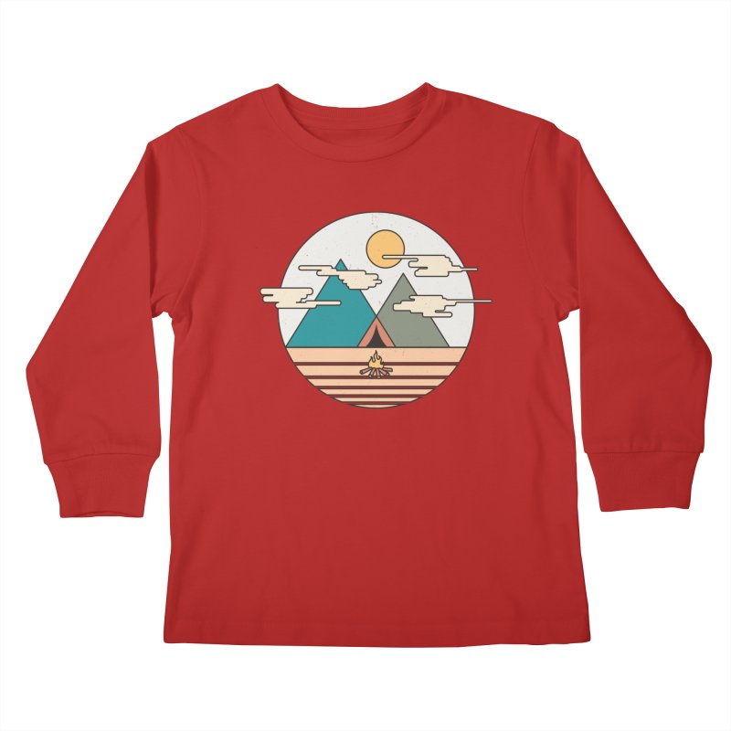 BENEATH THE MOUNTAINS Kids Longsleeve T-Shirt by alchemist's Artist Shop