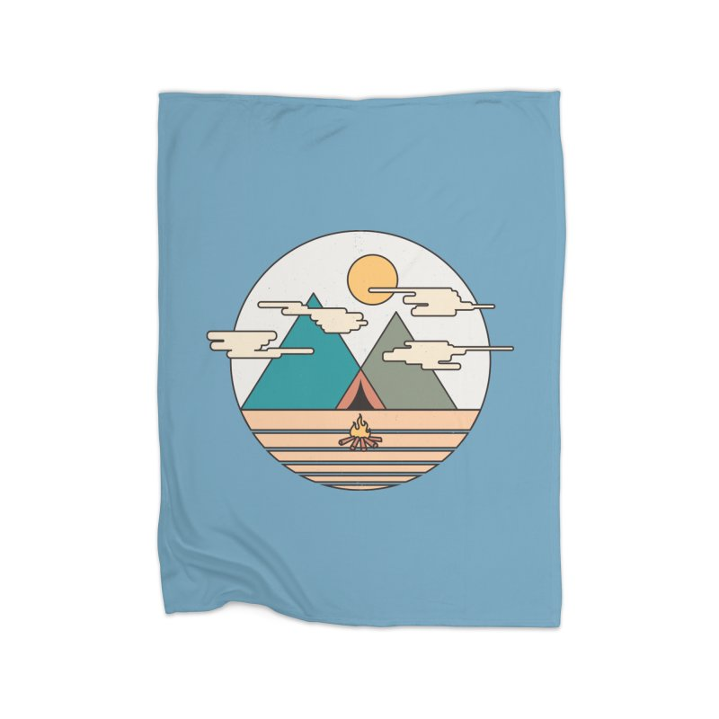 BENEATH THE MOUNTAINS Home Blanket by alchemist's Artist Shop