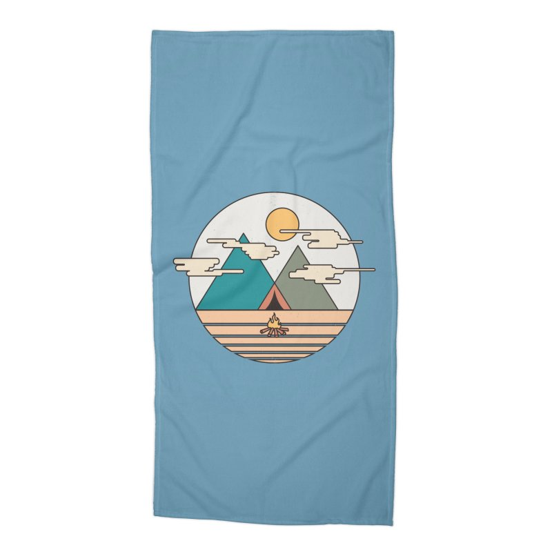 BENEATH THE MOUNTAINS Accessories Beach Towel by alchemist's Artist Shop