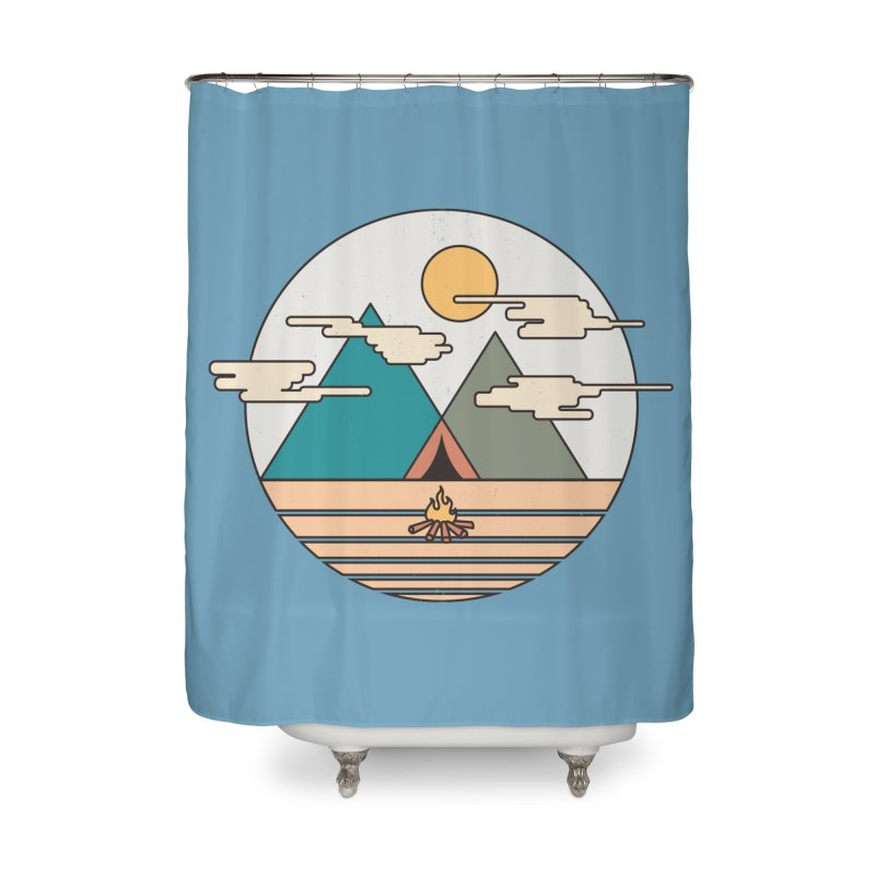 BENEATH THE MOUNTAINS Home Shower Curtain by alchemist's Artist Shop