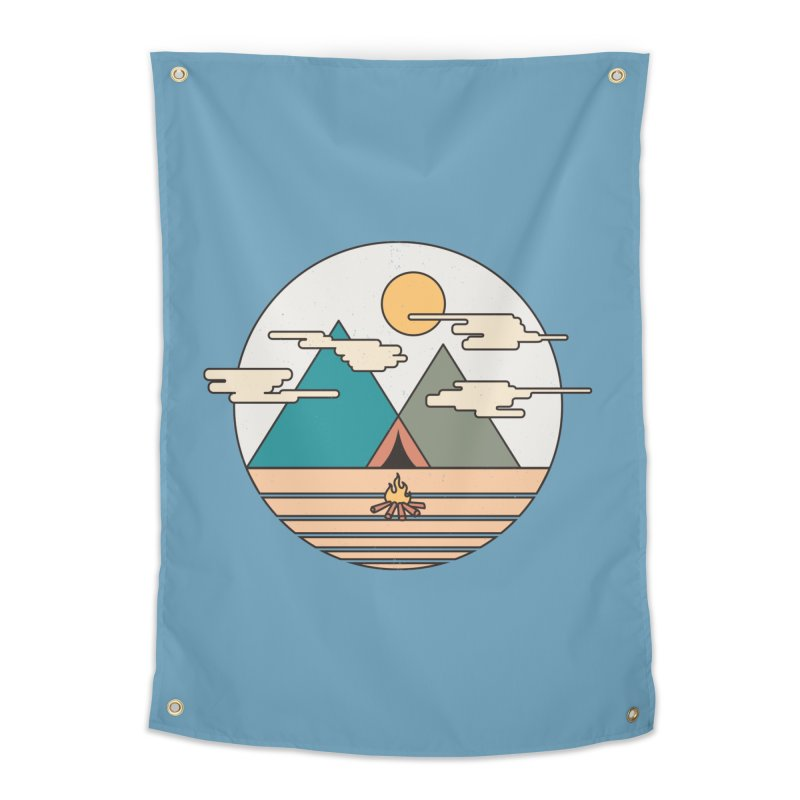 BENEATH THE MOUNTAINS Home Tapestry by alchemist's Artist Shop
