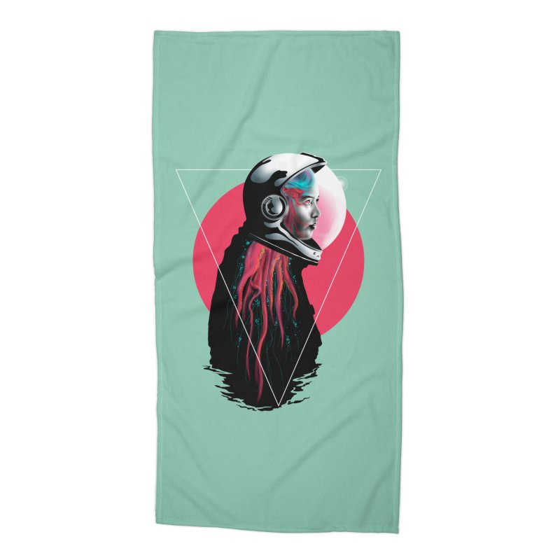 MATILDA X01 Accessories Beach Towel by alchemist's Artist Shop