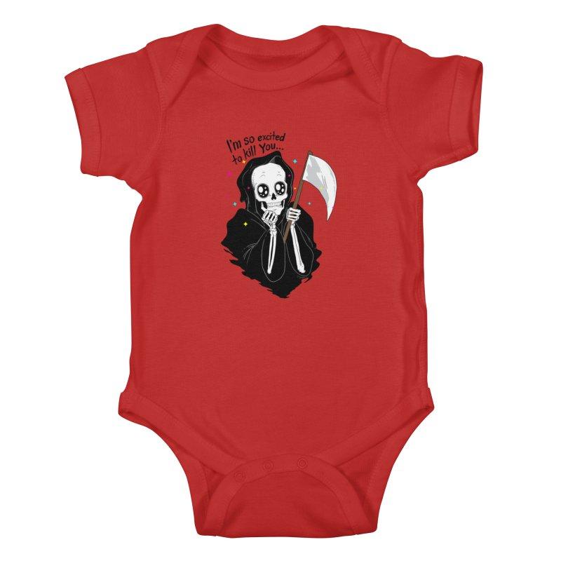 I'M SO EXCITED Kids Baby Bodysuit by alchemist's Artist Shop
