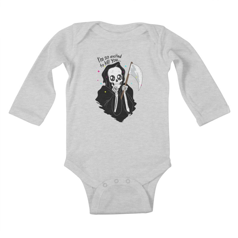 I'M SO EXCITED Kids Baby Longsleeve Bodysuit by alchemist's Artist Shop