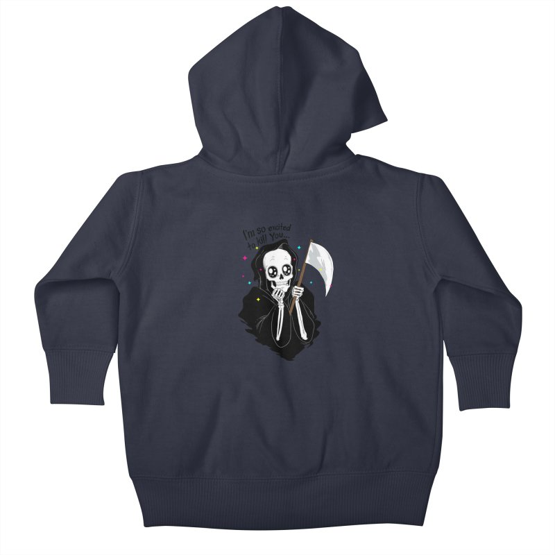 I'M SO EXCITED Kids Baby Zip-Up Hoody by alchemist's Artist Shop