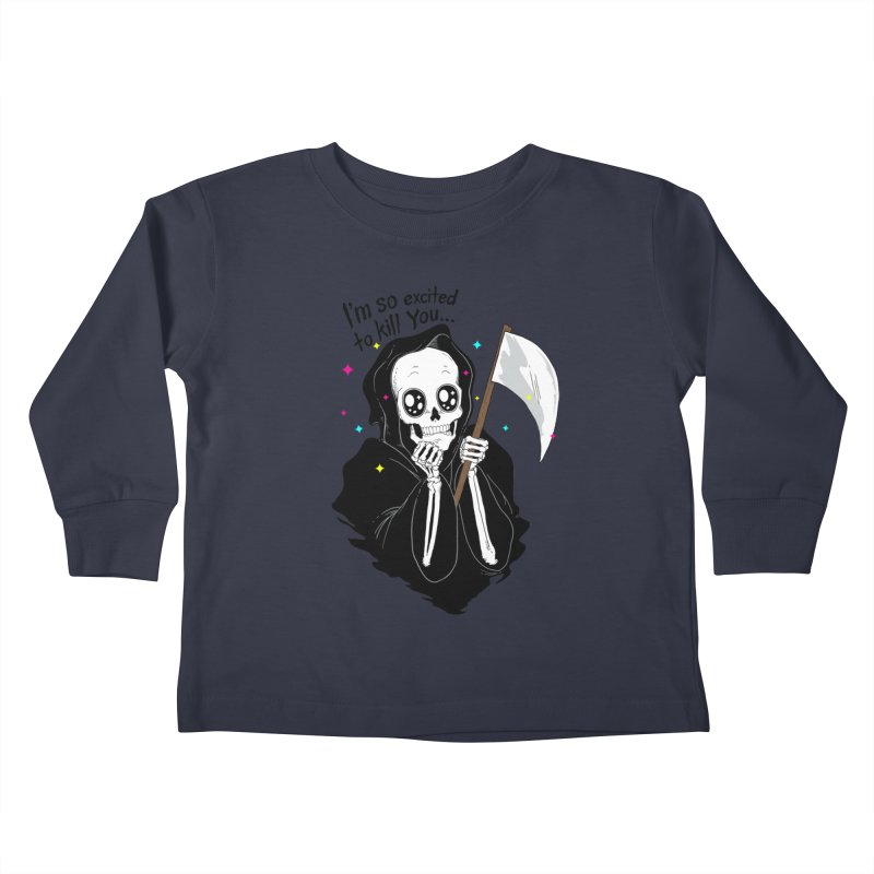 I'M SO EXCITED Kids Toddler Longsleeve T-Shirt by alchemist's Artist Shop