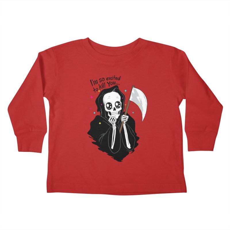 I'M SO EXCITED Kids Toddler Longsleeve T-Shirt by alchemist's Artist Shop