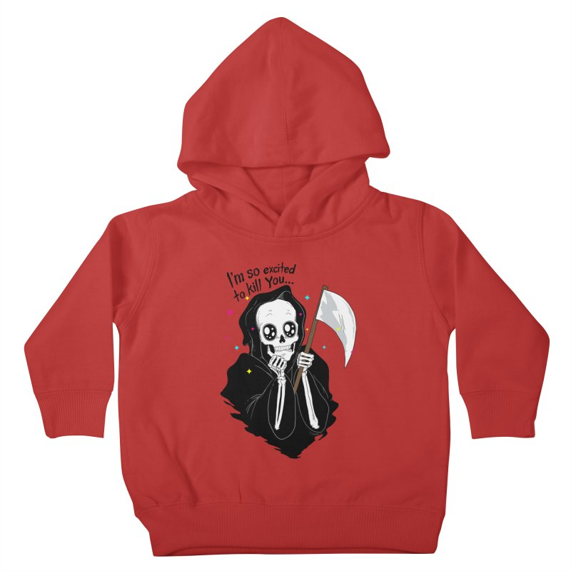 I'M SO EXCITED Kids Toddler Pullover Hoody by alchemist's Artist Shop