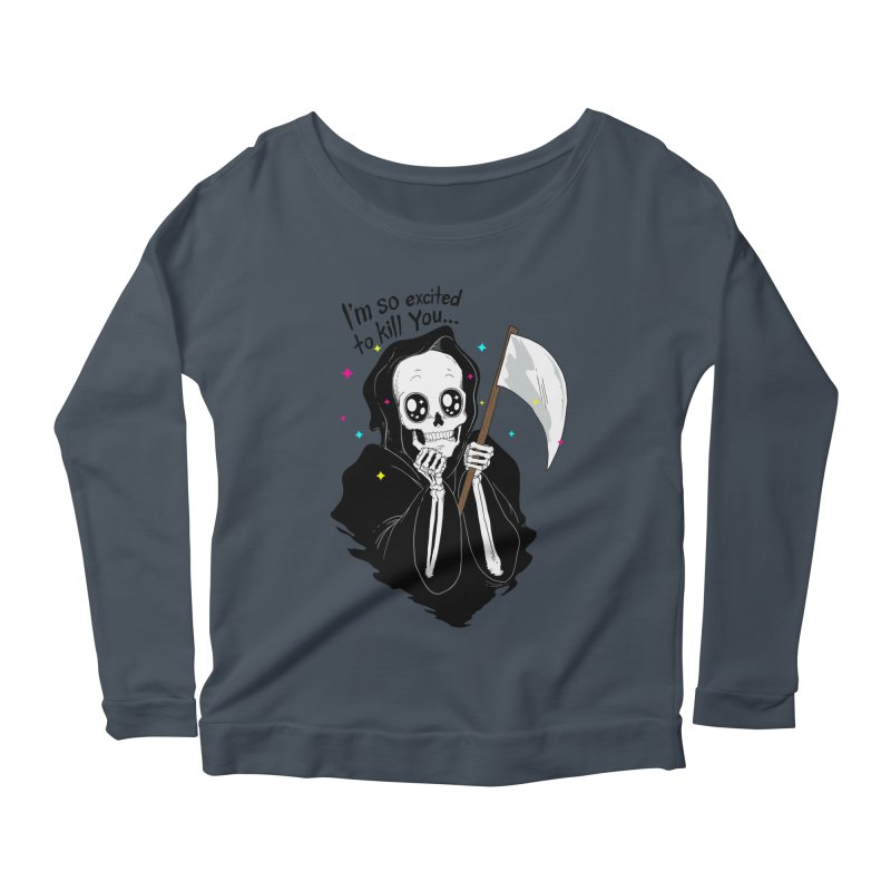 I'M SO EXCITED Women's Longsleeve Scoopneck  by alchemist's Artist Shop