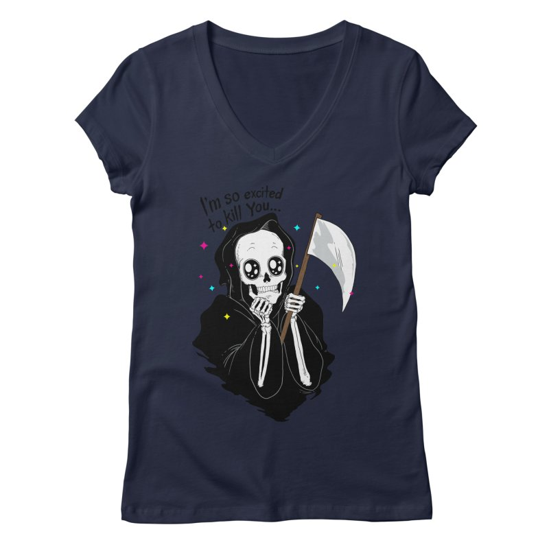 I'M SO EXCITED Women's V-Neck by alchemist's Artist Shop