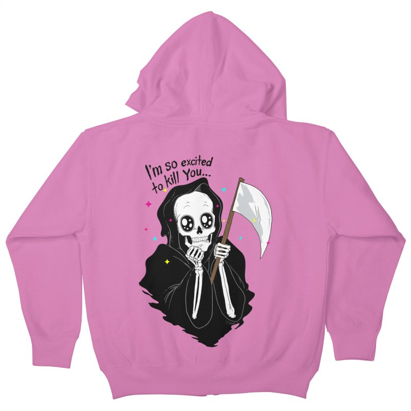 I'M SO EXCITED Kids Zip-Up Hoody by alchemist's Artist Shop