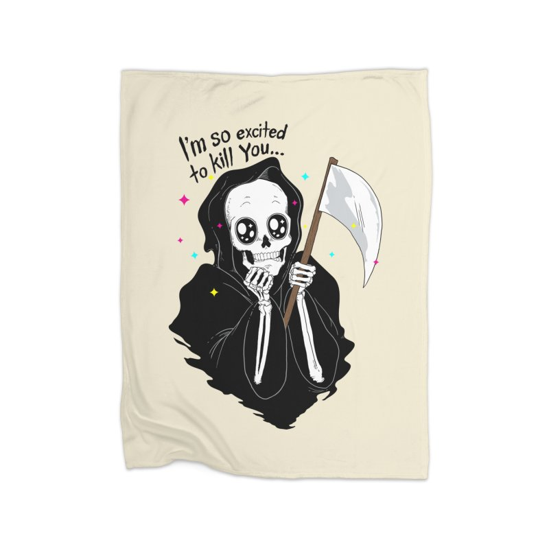 I'M SO EXCITED Home Blanket by alchemist's Artist Shop