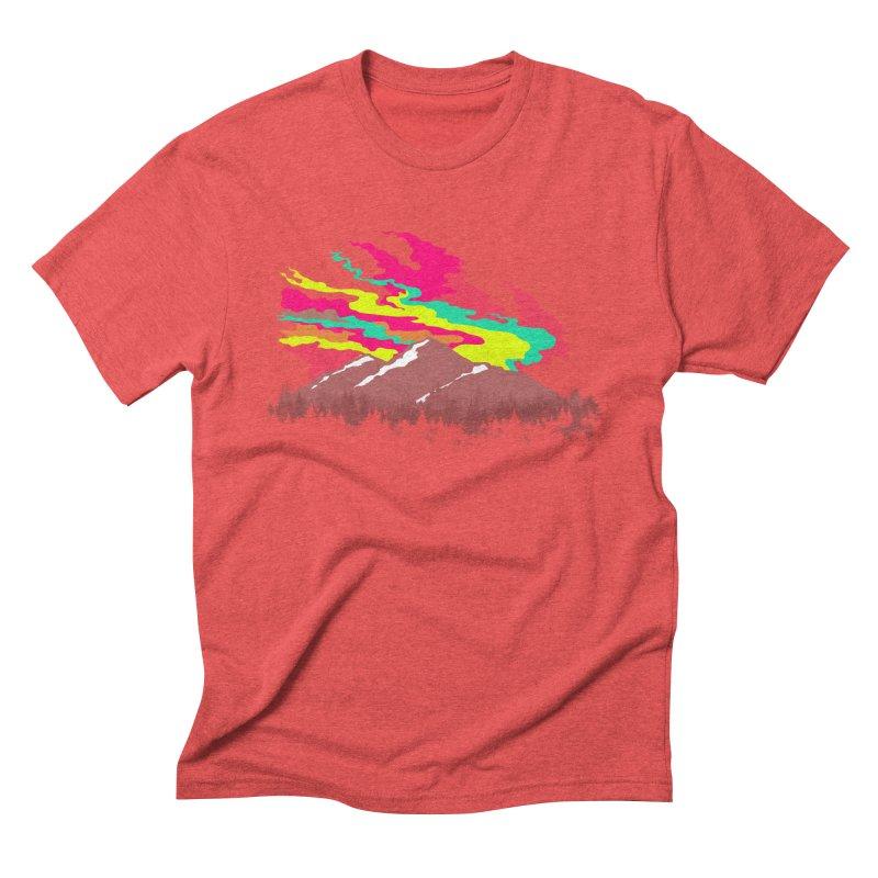 MOUNTAIN FLARE Men's Triblend T-shirt by alchemist's Artist Shop