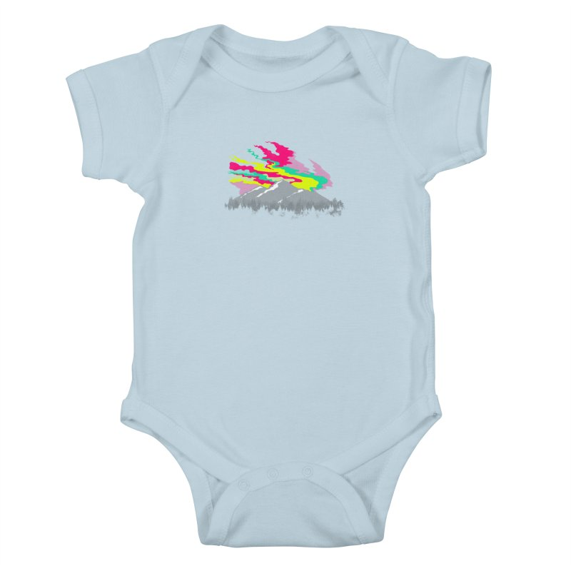MOUNTAIN FLARE Kids Baby Bodysuit by alchemist's Artist Shop