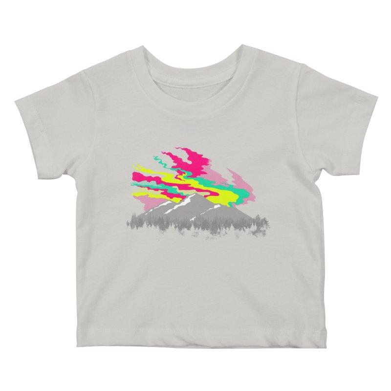MOUNTAIN FLARE Kids Baby T-Shirt by alchemist's Artist Shop