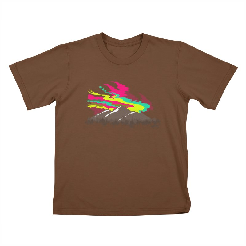 MOUNTAIN FLARE Kids T-shirt by alchemist's Artist Shop