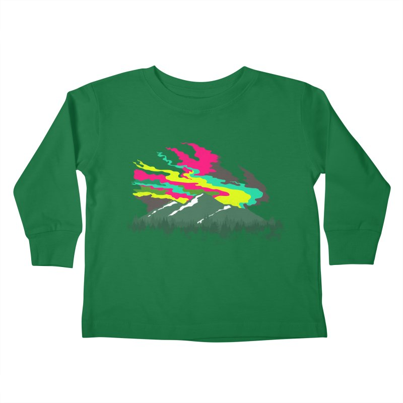 MOUNTAIN FLARE Kids Toddler Longsleeve T-Shirt by alchemist's Artist Shop