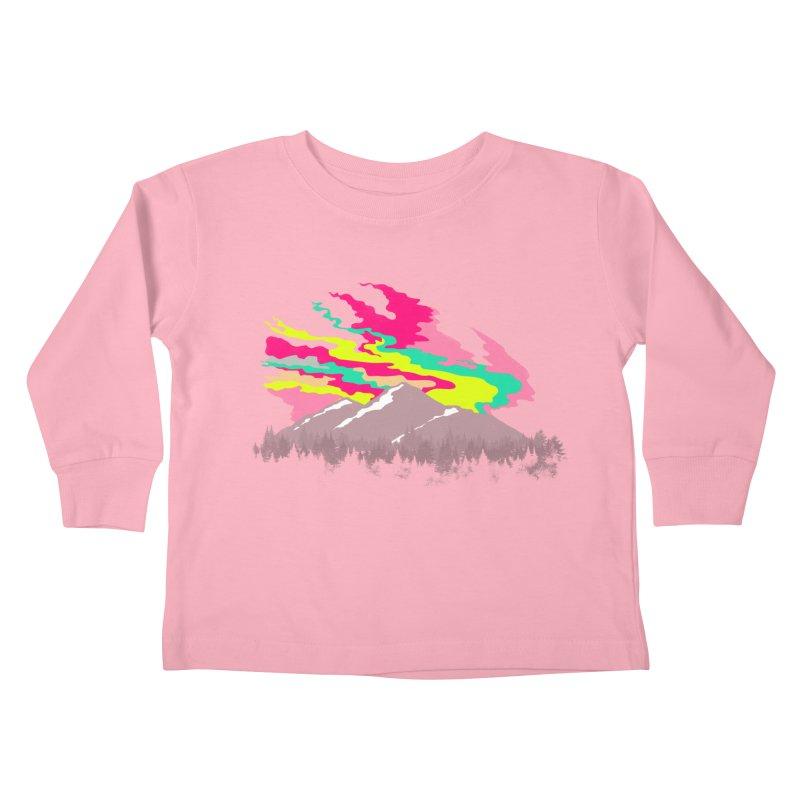 MOUNTAIN FLARE Kids Toddler Longsleeve T-Shirt by alchemist's Artist Shop