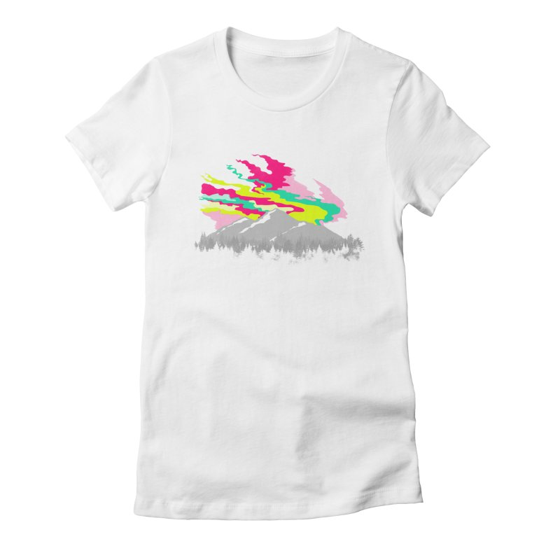 MOUNTAIN FLARE Women's Fitted T-Shirt by alchemist's Artist Shop