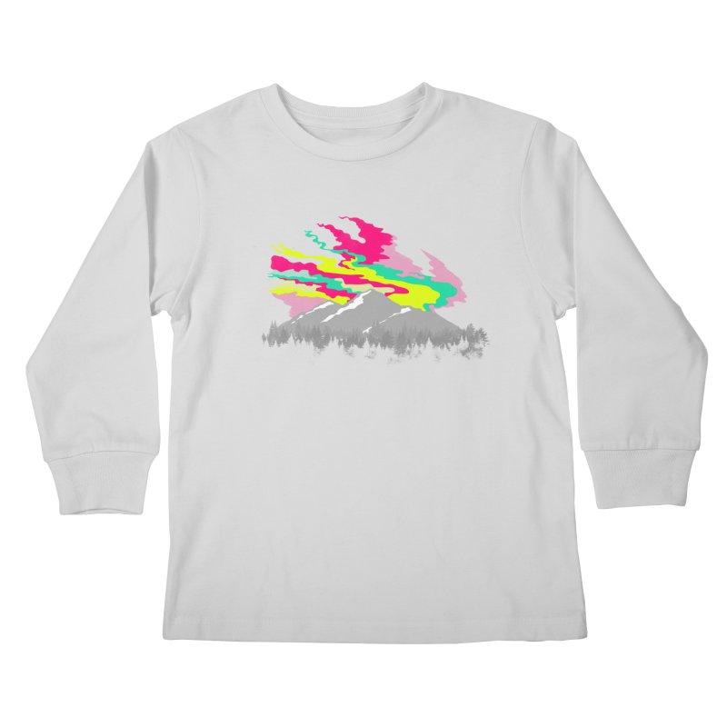 MOUNTAIN FLARE Kids Longsleeve T-Shirt by alchemist's Artist Shop