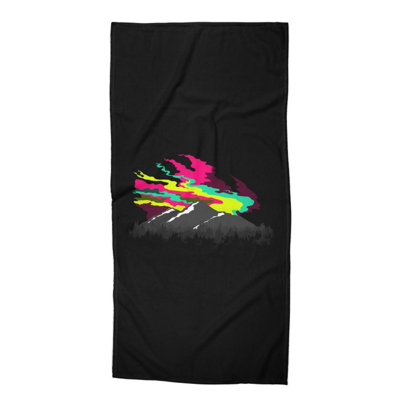 MOUNTAIN FLARE Accessories Beach Towel by alchemist's Artist Shop