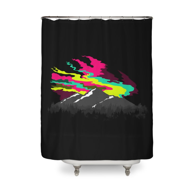 MOUNTAIN FLARE Home Shower Curtain by alchemist's Artist Shop