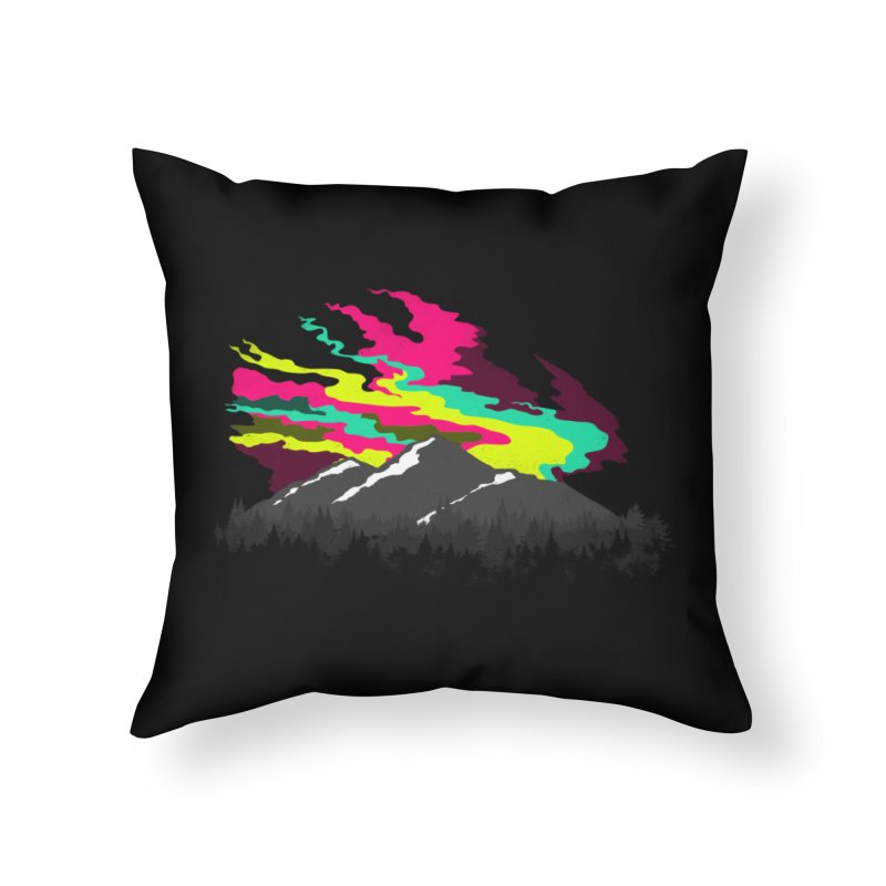 MOUNTAIN FLARE Home Throw Pillow by alchemist's Artist Shop
