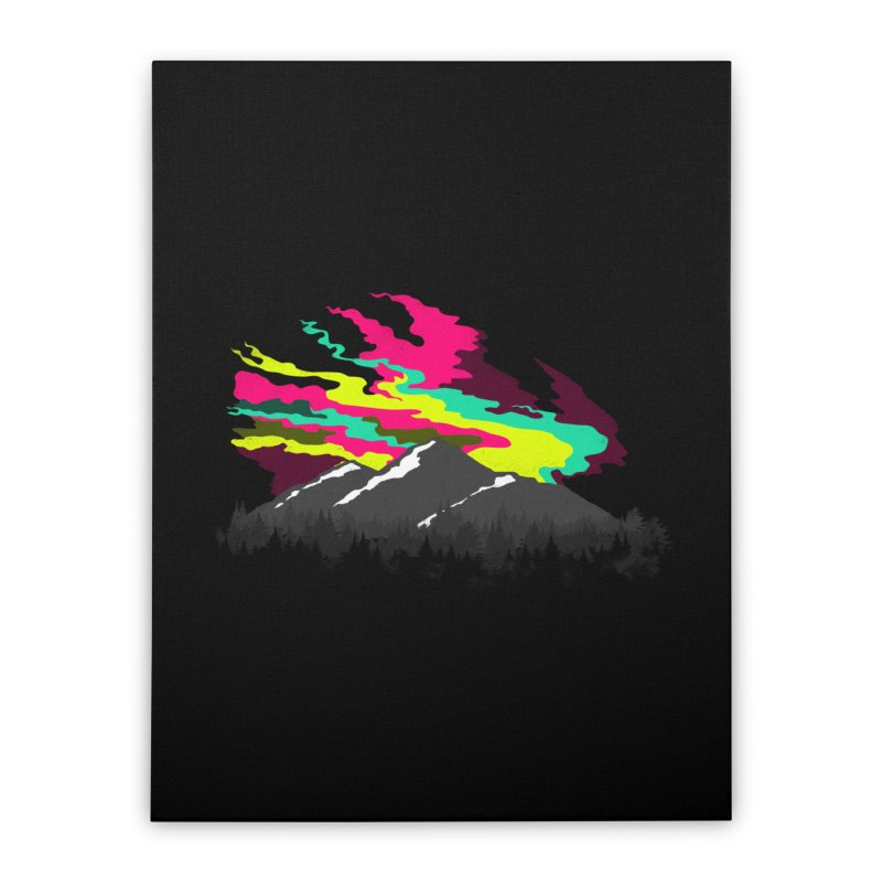 MOUNTAIN FLARE Home Stretched Canvas by alchemist's Artist Shop