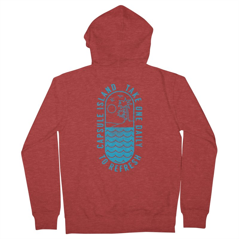 CAPSULE ISLAND Men's Zip-Up Hoody by alchemist's Artist Shop