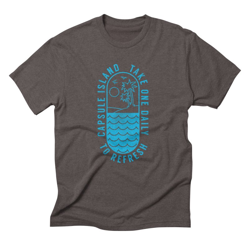CAPSULE ISLAND Men's Triblend T-shirt by alchemist's Artist Shop