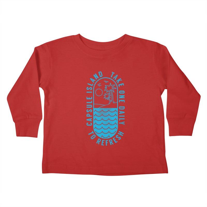 CAPSULE ISLAND Kids Toddler Longsleeve T-Shirt by alchemist's Artist Shop