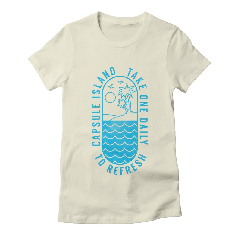 CAPSULE ISLAND Women's Fitted T-Shirt by alchemist's Artist Shop