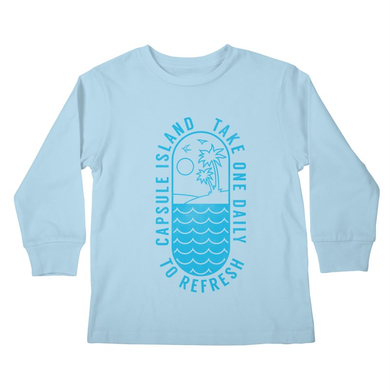 CAPSULE ISLAND Kids Longsleeve T-Shirt by alchemist's Artist Shop