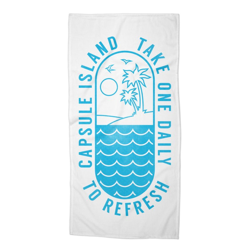 CAPSULE ISLAND Accessories Beach Towel by alchemist's Artist Shop