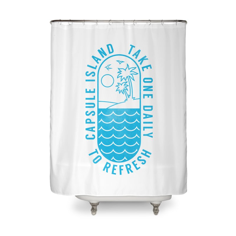 CAPSULE ISLAND Home Shower Curtain by alchemist's Artist Shop
