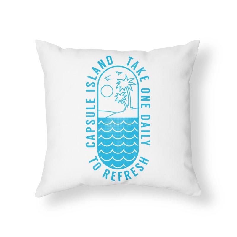 CAPSULE ISLAND Home Throw Pillow by alchemist's Artist Shop
