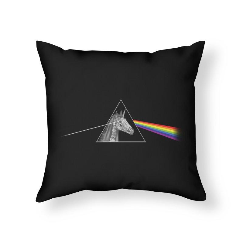 THE SECRET BEHIND TRIANGLE & RAINBOW Home Throw Pillow by alchemist's Artist Shop