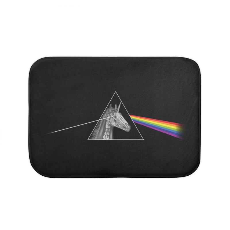 THE SECRET BEHIND TRIANGLE & RAINBOW Home Bath Mat by alchemist's Artist Shop