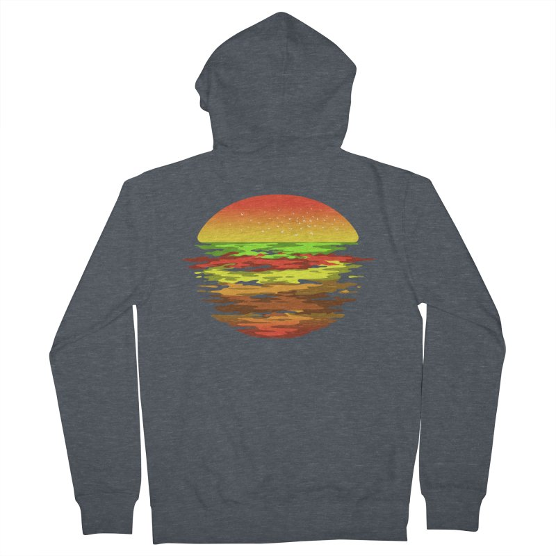 SUNSET BURGER Women's Zip-Up Hoody by alchemist's Artist Shop