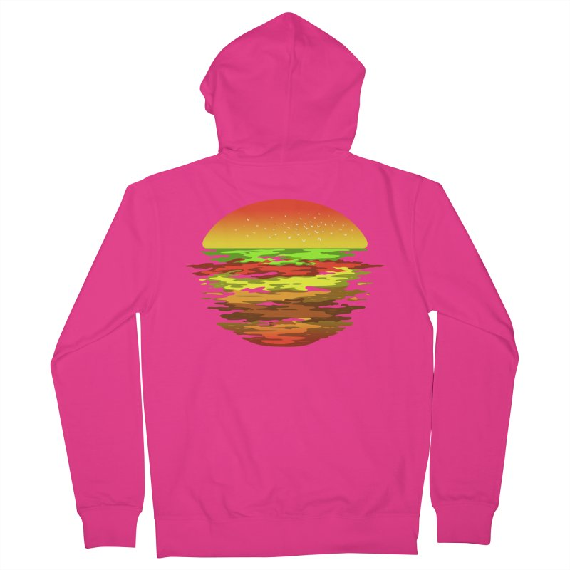 SUNSET BURGER Men's Zip-Up Hoody by alchemist's Artist Shop