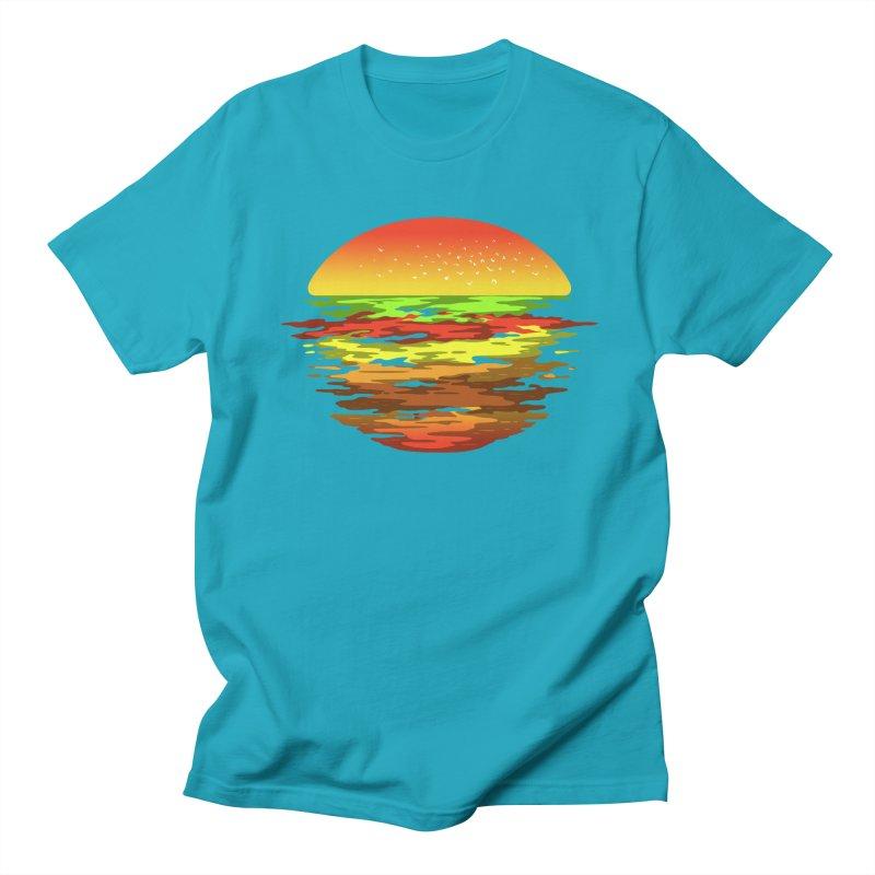 SUNSET BURGER Women's Unisex T-Shirt by alchemist's Artist Shop