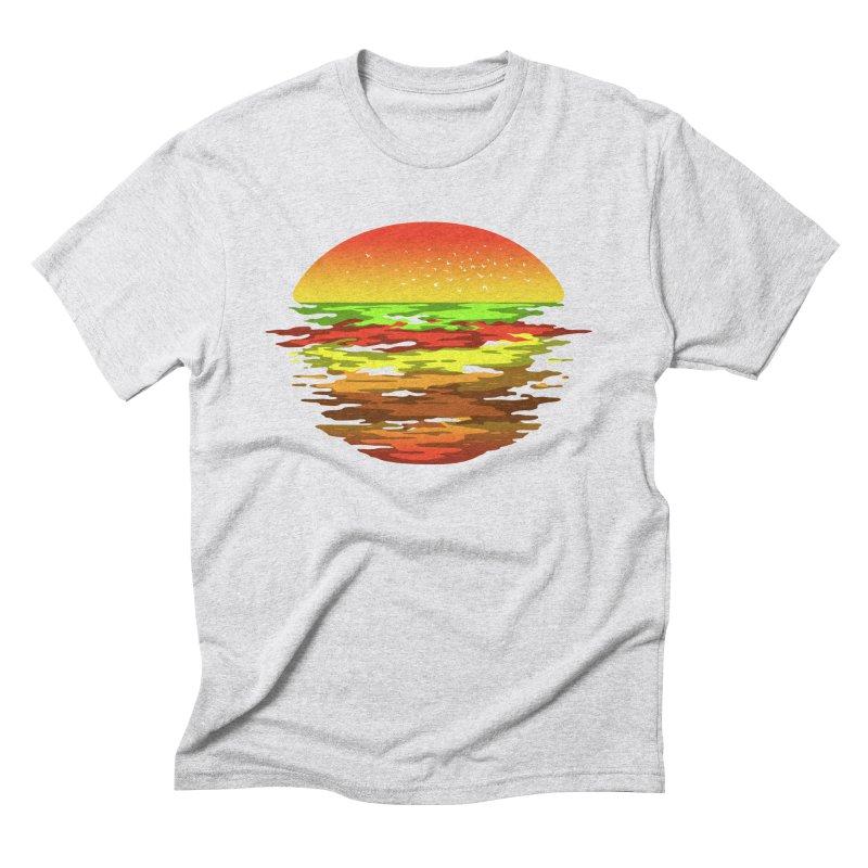 SUNSET BURGER Men's Triblend T-Shirt by alchemist's Artist Shop