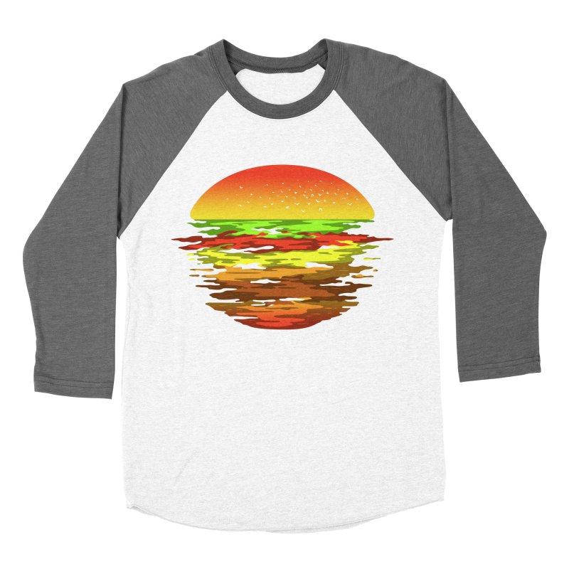 SUNSET BURGER Men's Baseball Triblend T-Shirt by alchemist's Artist Shop